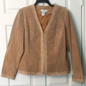 Coldwater Creek Suede Leather Jacket Large Blazer